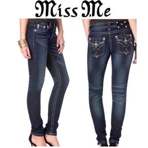 Miss Me Glistening Rendezvous MidRise Skinny Jeans